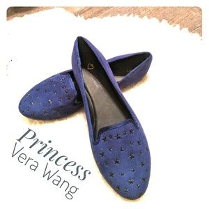 NWOT  ~ VERA WANG Princess Flat Faux Suede Shoes